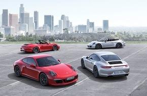 Porsche Schweiz AG: Plus de puissance, plus de dynamisme: les nouvelles Porsche 911 Carrera GTS / Quatre nouveaux top-modèles dans la famille 911 Carrera