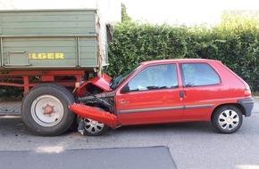 Polizeidirektion Worms: POL-PDWO: Verkehrsunfall mit verletzter Person