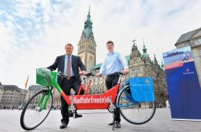"Hamburg Marketing GmbH: Tandem on Tour in der Metropolregion Hamburg: Ausflugskampagne ""Radfahrfreu(n)de"" in Hamburg gestartet"