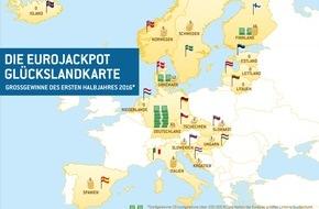 Eurojackpot: Gewinnerbilanz zur Lotterie Eurojackpot 1 Halbjahr 2016
