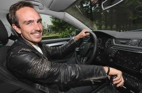 Skoda Auto Deutschland GmbH: Sprinter testet Flaggschiff: John Degenkolb unterwegs im neuen SKODA Superb
