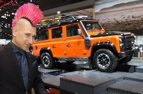 JAGUAR Land Rover Schweiz AG: Tout juste de retour d'Inde, Andreas Thiel visite le Salon de l'Automobile de Genève