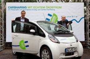 Greenpeace Energy eG: CarSharing mit echtem Ökostrom: Greenpeace Energy und cambio CarSharing starten Elektromobilität in Hamburg (mit Bild)