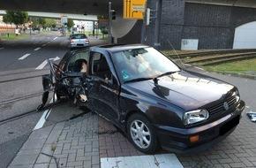 Polizeipräsidium Rheinpfalz: POL-PPRP: Schwerer Verkehrsunfall am Südwestknoten