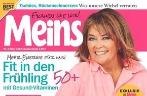 """Bauer Media Group, Meins: Wencke Myhre exklusiv in Meins: """"Das Wort Angst habe ich aus meinem Wortschatz gestrichen."""""""