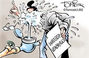 Bundesgeschäftsstelle Landesbausparkassen (LBS): Wasserverbrauch explodierte / Grundstückseigentümer musste für extrem hohen Verbrauch aufkommen