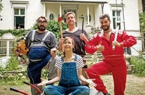 """SAT.1: Sebastian Bezzel legt in seinem ersten SAT.1-Movie Hand an: Drehstart für """"Schlimmer geht immer"""" (AT) mit Nadja Becker und Manuel Cortez"""