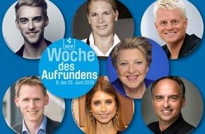 DEUTSCHLAND RUNDET AUF: Woche des Aufrundens - Prominente kassieren deutschlandweit für arme Kinder
