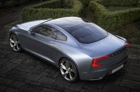 Volvo Car Switzerland AG: Le Volvo Concept Coupé - la P1800 du futur - est une automobile à l'élégance sereine grace à la nouvelle architecture évolutive Volvo (IMAGE/VIDEO)