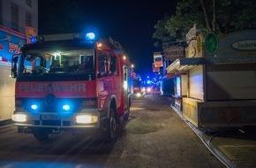 Freiwillige Feuerwehr Menden: FW Menden: Stromkasten brennt auf dem Kirmesgelände