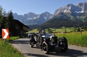 Kitzbüheler Alpenrallye: Berge, Täler, Alpenpässe. Das rollende Automobilmuseum erobert die Alpen