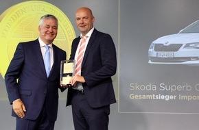 Skoda Auto Deutschland GmbH: Topmodell SKODA SUPERB Combi ist 'Auto Test Sieger 2016'