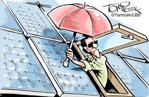Bundesgeschäftsstelle Landesbausparkassen (LBS): Wenn die Sonne stört / Nachbarn fühlten sich von einer Photovoltaikanlage geblendet