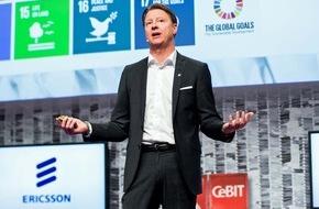 """Ericsson GmbH: Ericsson-CEO Vestberg auf der CeBIT: """"Der digitale Wandel braucht Hochleistungsnetze"""""""