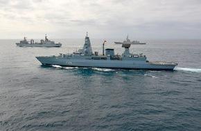 """Presse- und Informationszentrum Marine: Fregatte """"Hamburg"""" kehrt nach sechs Monaten als NATO Flaggschiff zurück in den Heimathafen"""
