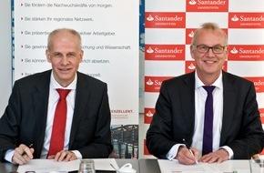 Santander Consumer Bank AG: Santander und Universität Bremen verlängern Partnerschaft