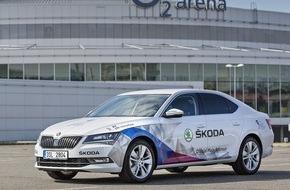Skoda Auto Deutschland GmbH: SKODA bei der IIHF Eishockey-Weltmeisterschaft in Tschechien: Großartige Autos, jede Menge Action