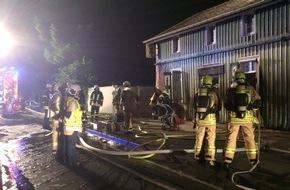 Feuerwehr Stolberg: FW-Stolberg: Einsatzreiche Nacht für die Stolberger Feuerwehr