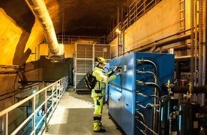 Amatic AG: Gotthard-Basistunnel: Zentralschweizer Unternehmen AMATIC sorgt für Sicherheit, auch im Brandfall