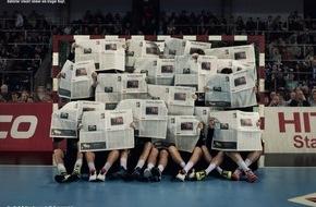 Frankfurter Allgemeine Zeitung: Die F.A.Z. ehrt die deutschen Handball-Helden als Kluge Köpfe (FOTO)
