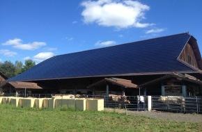 Solaire Suisse: Neues Solardach erfüllt sämtliche Anforderungen der Denkmalpflege - Solaire Suisse baut gebäudeintegriertes Solardach