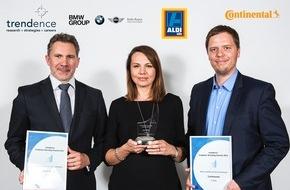 Unternehmensgruppe ALDI SÜD: ALDI SÜD für herausragende Leistung im Employer Branding ausgezeichnet