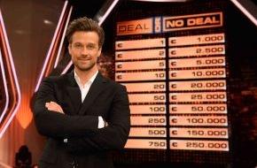 SAT.1: Neuer Showabend am Mittwoch in SAT.1: Wayne Carpendale zockt um 250.000 Euro und Thore Schölermann quizzt verrückt