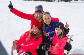 ARD Das Erste: Das Erste / Star Biathlon 2014 / Psychoduell mit Spaßfaktor in Garmisch - Stefanie Hertel schockt die Konkurrenz / Am Samstag, 1. Februar 2014, um 20.15 Uhr