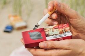 BAT British American Tobacco Germany: Strandascher - Mit Pall Mall gibt es 2015 nur Sand am Strand
