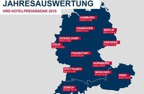 HRS - Hotel Reservation Service: Hotelpreisentwicklung 2015: Moderater Preisanstieg in Deutschland