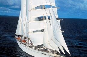 Star Clippers: Kreuzfahrt Kurs Kuba / frühe Buchungen für Kuba-Kreuzfahrten / Segel-Kreuzfahrtschiff Star Flyer steuert kleine kubanische Häfen an