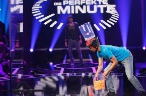 """SAT.1: Köpft sich der Kölner Lukas (25) mit Tischtennisbällen zu 200.000 Euro? """"Die Perfekte Minute"""" am Freitag in SAT.1"""