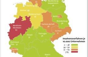 BÜRGEL Wirtschaftsinformationen GmbH & Co. KG: Firmeninsolvenzen sinken um 1,4 Prozent / Neugründungen, Gewerbe und Einzelunternehmen am stärksten von Pleite betroffen