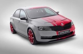 Skoda Auto Deutschland GmbH: SKODA auf der Essen Motor Show 2013: Vom kleinen Citigo Sport bis zum Original-Rallyeboliden Fabia S2000