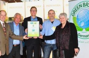 Green Brands: PRIMAVERA LIFE GMBH als GREEN BRAND Germany ausgezeichnet