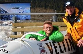 Brauerei C. & A. Veltins GmbH: André Schürrle fährt Taxibob: Vom Fußballplatz direkt in den Eiskanal