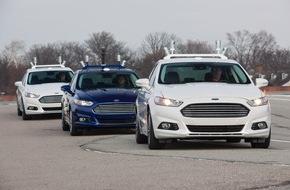 Ford-Werke GmbH: Ford startet Erprobung autonomer Fahrzeuge auf den Straßen von Kalifornien