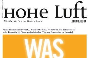 """Hohe Luft Magazin: Christian Ulmen: """"Ich schäme mich, wenn ich zu wenig Trinkgeld gegeben habe"""""""
