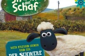 wissenmedia in der inmediaONE] GmbH: Shaun das Schaf sorgt im JollyBook für Trubel - Leser werden namentlich in abenteuerliche Geschichte eingebunden (mit Bild)