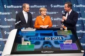 Software AG: CeBIT 2014: Bundeskanzlerin Merkel und Premierminister David Cameron besuchen Software AG / Dem digitalen Unternehmen gehört die Zukunft