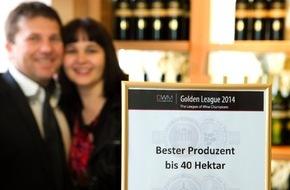 """Weingut Keringer: Keringer aus Mönchhof ist Golden League Gewinner,   und erhält den Titel """"Bester Produzent"""" für seine Weine."""