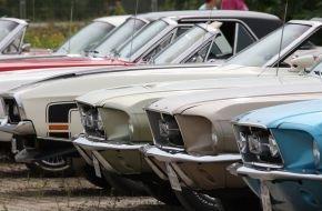 Ford-Werke GmbH: Eine Sportwagen-Ikone wird 50: Ford feiert Mustang-Jubiläum bei den Classic Days auf Schloss Dyck (FOTO)
