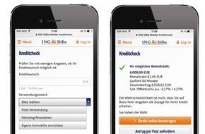 ING-DiBa AG: ING-DiBa führt mobilen Kreditcheck ein