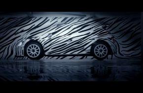 """Skoda Auto Deutschland GmbH: Neuer SKODA Fabia R 5 im """"Zebra-Look"""" begeistert auf Facebook, YouTube und Twitter"""