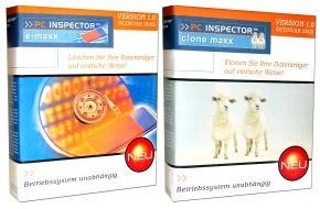 Convar Systeme Deutschland: Ab Juli 2003 sind die neuen kostenlosen Vollversionen von PC Inspector(TM) e-maxx und PC Inspector (TM) clone maxx bei Convar zum Download erhältlich