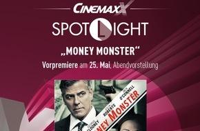 """CinemaxX Holdings GmbH: Neue Kinoreihe bei CinemaxX: SPOTLIGHT präsentiert handverlesene Filme als Preview mit köstlichem Extra / """"Money Monster"""" mit Julia Roberts und George Clooney eröffnet SPOTLIGHT am 25. Mai"""