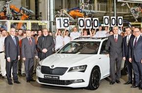 Skoda Auto Deutschland GmbH: Jubiläum: SKODA produziert 18-millionstes Fahrzeug