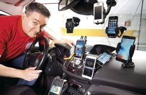 AUTO BILD: AUTO BILD-Test: Günstige Handy-Halter sind keine Wackel-Kandidaten