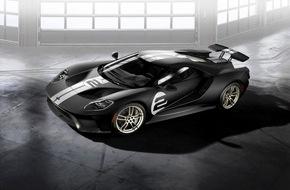 Ford-Werke GmbH: Ford GT: Sondermodell '66 Heritage Edition erinnert an das legendäre Le Mans-Siegerauto von 1966