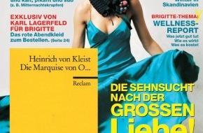 Gruner+Jahr, BRIGITTE: BRIGITTE-Kooperation mit dem Verlag Philipp Reclam junior: Lese-Extra für BRIGITTE-Leserinnen